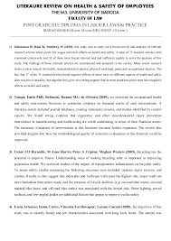 Example Of A Literature Review Essay Law Literature Review Example