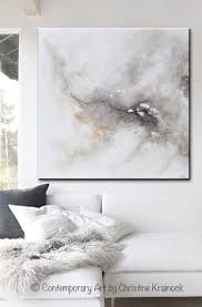 art abstract grey white painting
