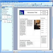 Microsoft Office Publisher Newsletter Templates Template Ms Office Publisher Template Microsoft 2007 Templates Free