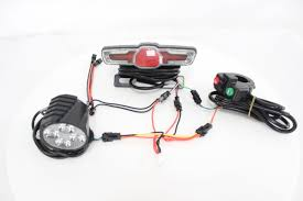 Headlamp Bicycle Light Us 14 0 Electric Bike 48v Headlight Front Tail Rear Lights Led Night Lamp Flashing Spotlight Headlamp Cycling Ebike Accessories Part In Bicycle