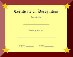 free recognition certificates 010 certificate of recognition template ideas beautiful free