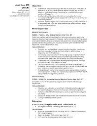Medical Lab Technician Resume Format Medical Laboratory