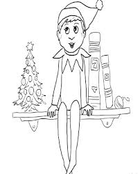 elf on the shelf coloring pages general 1400