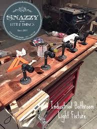 industrial bathroom light fixtures galvanized diy industrial vanity light  bathroom ideas how to lighting repurposin