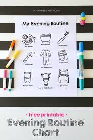 Printable Evening Routine Chart Mama Papa Bubba