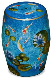 koi pond porcelain garden stool asian