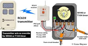 how to wire intermatic t104 and t103 and t101 timers Intermatic Pool Timer Wiring Diagram rc939 transmitter rc613 receiver wh40 or t104 timer intermatic pool timer wiring diagram 120v