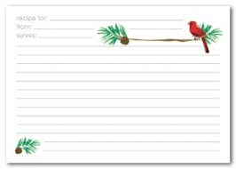 Christmas Recipe Card Printable Pine Bough Recipe Card Template