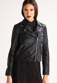 sfmarlen leather jacket black