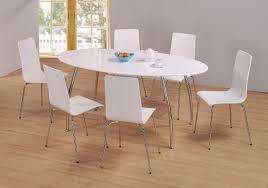 fiji high gloss oval dining set 1800w x 900d 6 high gloss chrome chairs white
