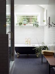 Black Tub And White Decor