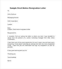Resignition Letters Resign Letter Examples Resignation Sample Pdf ...