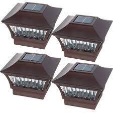 Post Cap Solar Light Walmart Greenlighting Aluminum Solar Post Cap Light 4x4 Wood Or 6x6 Pvc 4 Pack Walmart Com
