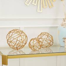 silverwood furniture reimagined twig decorative sphere metal set of 3