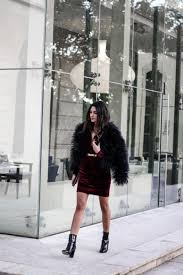 Go all out in a striking feather coat like this one, worn by Federica L