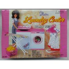 miniature furniture laundry center set for barbie doll house best gift toys for girl free shipping barbie dollhouse furniture cheap