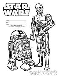Small Picture Star Wars Characters Coloring Pages