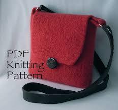 Cute felted bag @wendi weaver   Mavi çanta, Örgü modelleri, Çantalar
