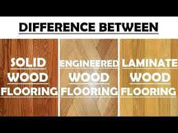 difference between solid wood flooring