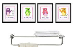 kids bathroom wall decor. Bathroom Decoration Medium Size Kids Art Childrens Girls Wall Decor Owls Printable Monsters
