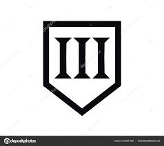 Roman 3 Roman Numerical Number Type Three Alphabet Letter Logo Mark