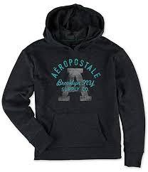 Aeropostale Womens Brooklyn Supply Co Hoodie Sweatshirt