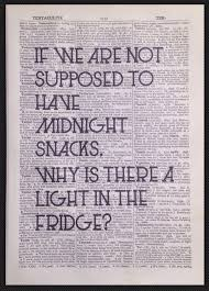 quirky funny kitchen quote print vintage dictionary wall art midnight snack diet in home furniture amusing decor reading corner furniture full size