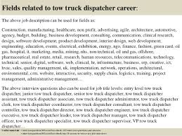 Dispatcher Job Description Custom Dispatcher Resume Driver Templates