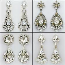 crystal drop bridal earrings and chandelier earrings from erin cole paris by debra moreland