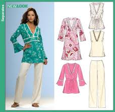 Tunic Top Patterns Amazing New Look 48 Misses Caftan Or Dress Tunic Top And Pants