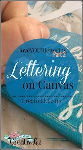 lettering on canvas creativlei