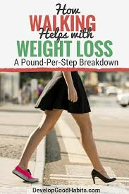 How Walking Helps With Weight Loss Steps Per Day Plan To