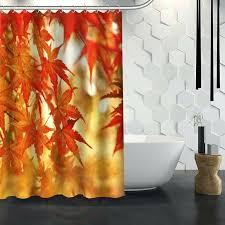 custom fabric shower curtains hot custom maple leaves autumn leaves shower curtain waterproof fabric shower