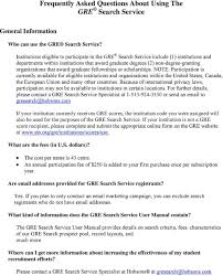 Frequently Asked Questions About Using The Gre Search