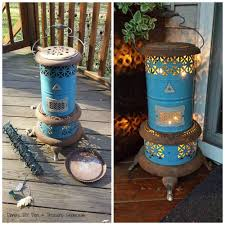 Repurposed Items She Wraps String Lights Around A Cylinder And Wait Until You See