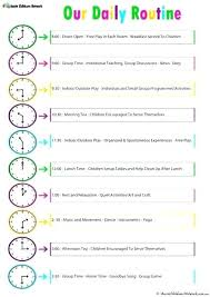 Daily Routine Schedule Template M Perfect Although Life Plan Planner