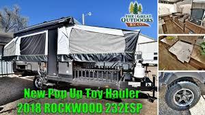 new 2018 rockwood 232esp pop up toy hauler cer rv colorado dealer