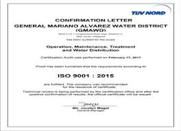 Certificate Of Confirmation Of Certification Audit General Mariano