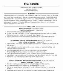 Inventory Controller Resumes Best Inventory Manager Resume Example Livecareer