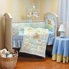 teddy bear crib sheet boyds bears and friends beary sleepy 4 piece crib bedding set