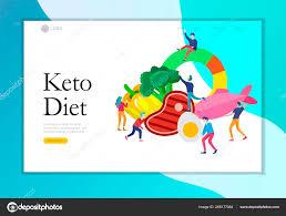 Keto Diet Landing Page Template Cartoon People Characters