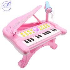 Đàn Piano Đồ Chơi 24 Phím Cho Bé Gái 1 2 3 4 Tuổi