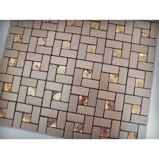 adhesive mosaic tile bronze brushed aluminum metal glass diamond grid patterns l and stick tiles 1530 123