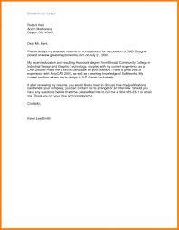 Samplel Cover Letter Applying Job Application For Sending Resume Via