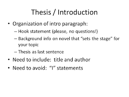 from brainstorm to thesis to kill a mockingbird essay ppt  8 thesis introduction organization