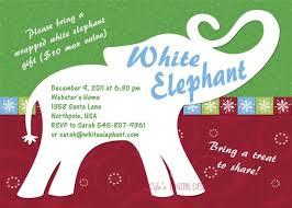 white elephant gift invitation.  Elephant White Elephant Gift Exchange Invitation Wording Giftsite Co Inside X