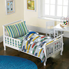 transportation toddler bedding.  Toddler Dream Factory Trains 4Piece Toddler Mini Bed In A Bag Bedding Set   Walmartcom Intended Transportation