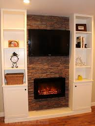lovely entertainment center with fireplace real flame