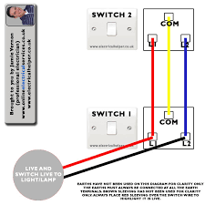 electrical helper wiring way switch video brown sleeving or tape would of been placed on the wires as shown to show the blue is live