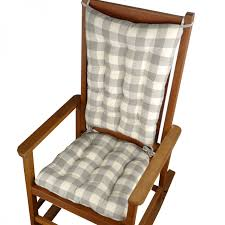 embrace rocking chair. vignette grey buffalo check rocking chair cushion sets for furniture accessories ideas embrace e